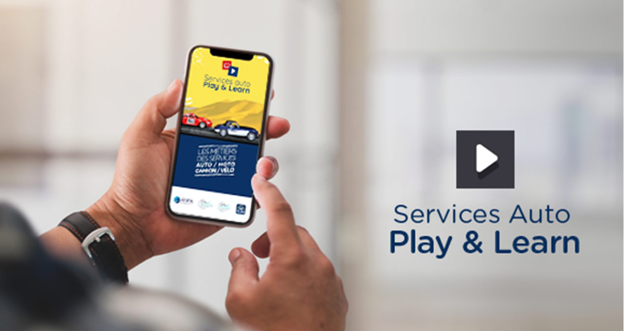 Application Play and learn Services Auto